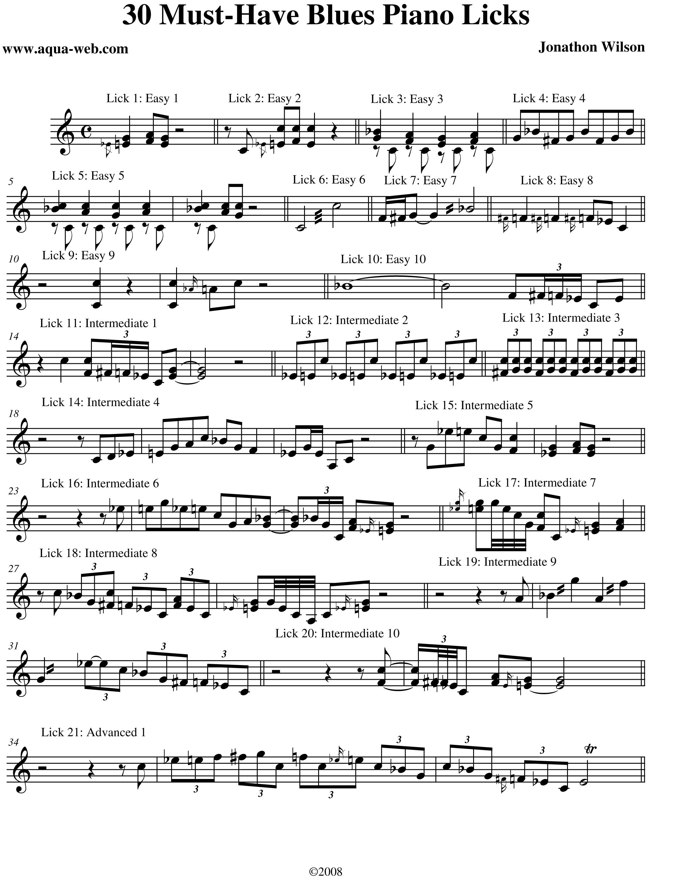 ALTRISUONI ASTI FORUM - Blues Piano Licks (Piano)
